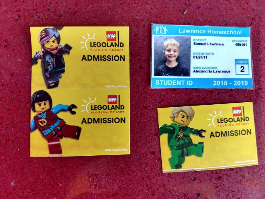 Home school Id for homeschool days at LegoLand FL