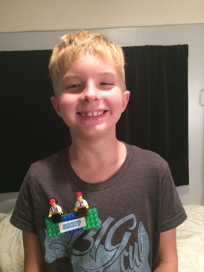 DIY Lego name tag for LegoLand FL